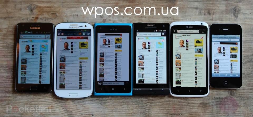 iPhone 4S vs Samsung Galaxy S II vs Samsung Galaxy S3 vs Nokia Lumia 900 vs HTC One X vs Sony Xperia S