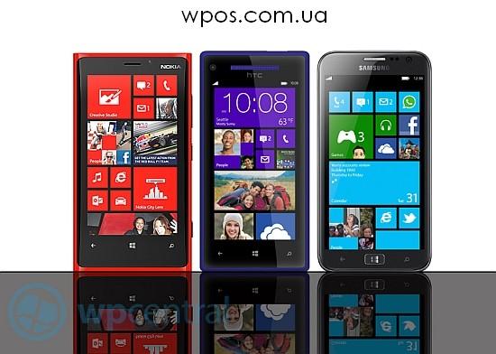 HTC 8X Samsung ATIV S Nokia Lumia 920