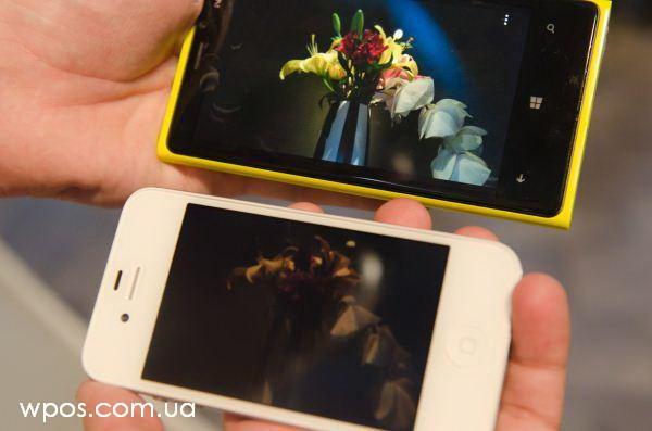 nokia lumia 920 против iphone 4s