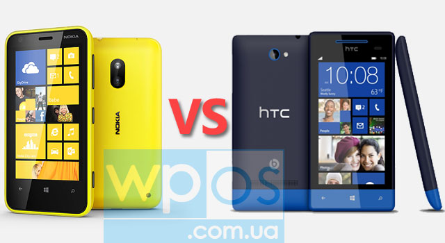 Nokia Lumia 620 против HTC 8S