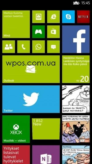 Дополнительный столбик плиток на стартовом экране Windows Phone 8