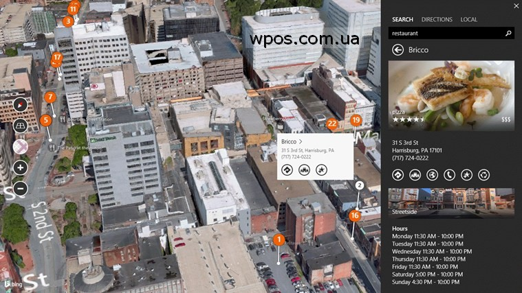 Bing Maps Preview для Windows 8.1 2