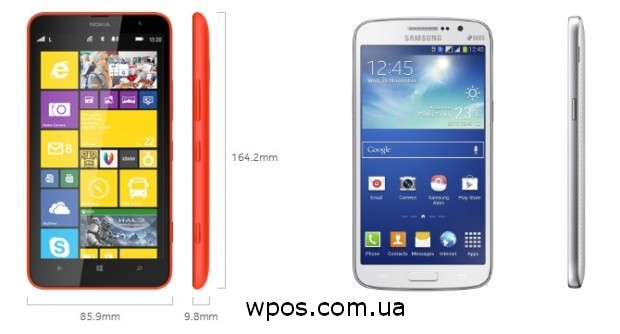 Nokia Lumia 1320 и Samsung Galaxy Grand 2