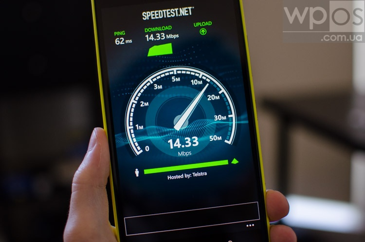 Lumia 1520 speedtest