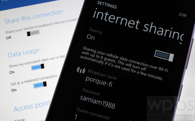 Internet Sharing Windows Phone