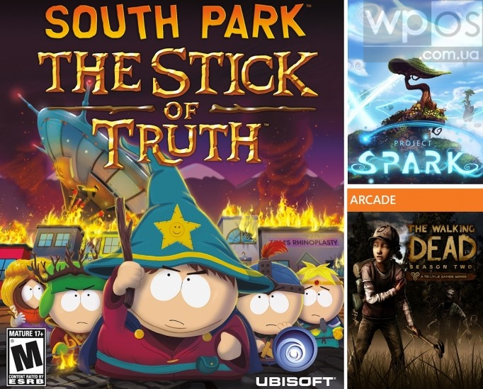 South Park Project Spark Walking Dead Xbox 360 One
