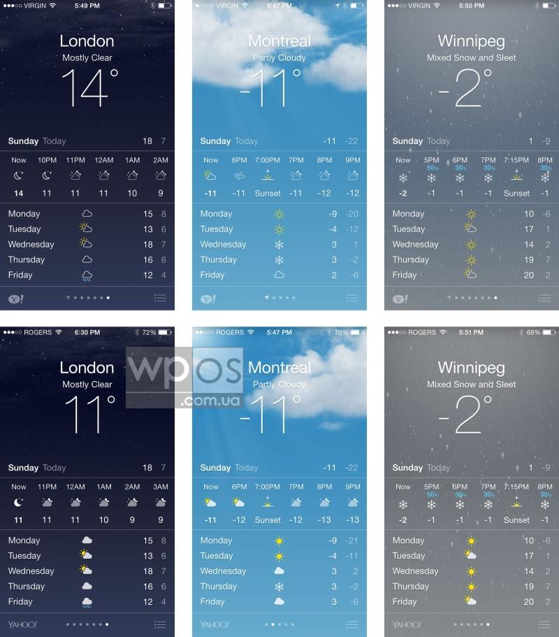 iOS 7.1 погода