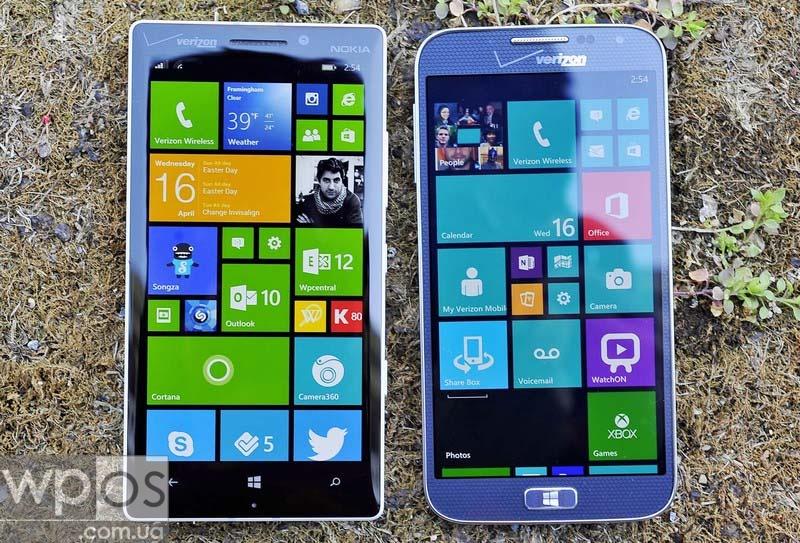 Самсунг ATIV SE против Lumia Icon