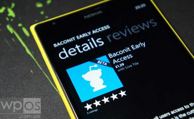 Baconit Early Access wp8