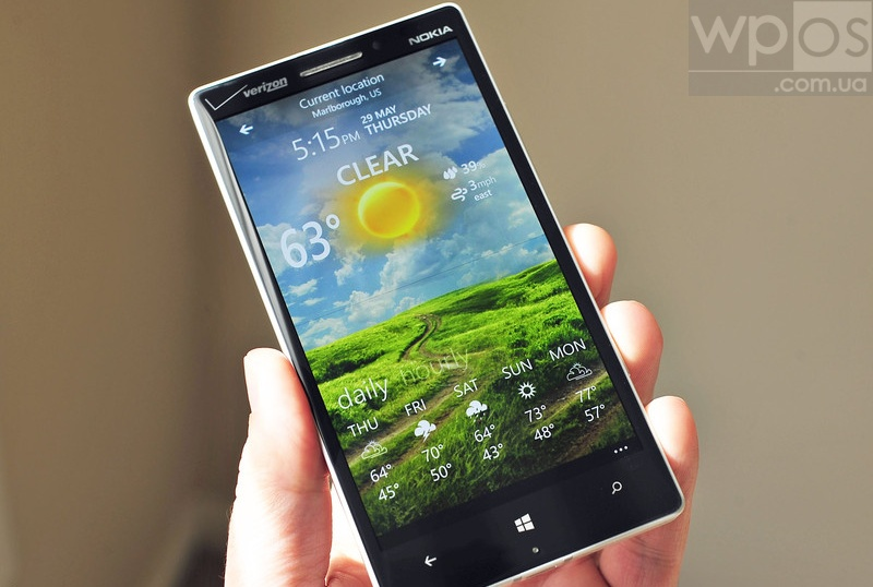 Weather Flow для windows phone 8.1