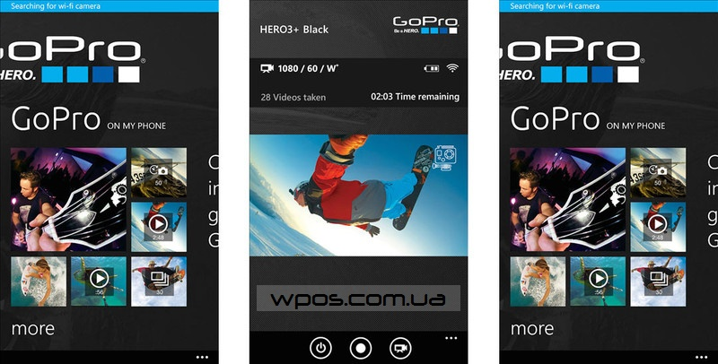 GoPro на windows phone