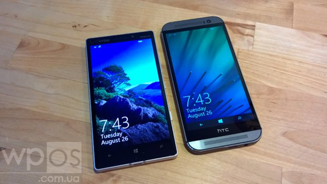 Nokia Lumia 930 (left) and HTC One M8 for Windows (right)