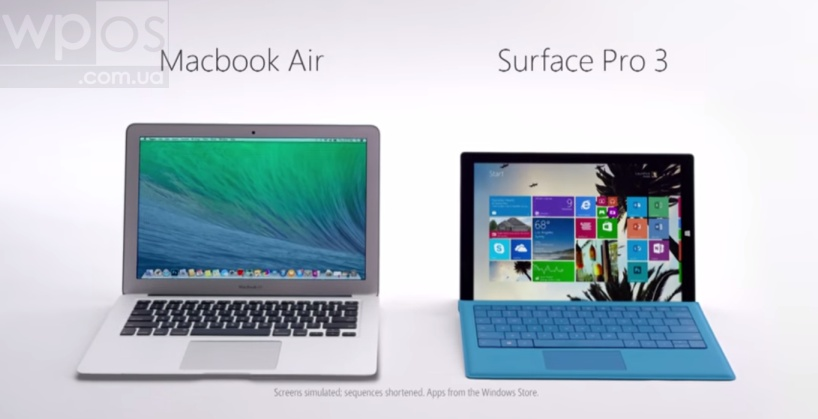 Surface Pro 3 vs MacBook Air video