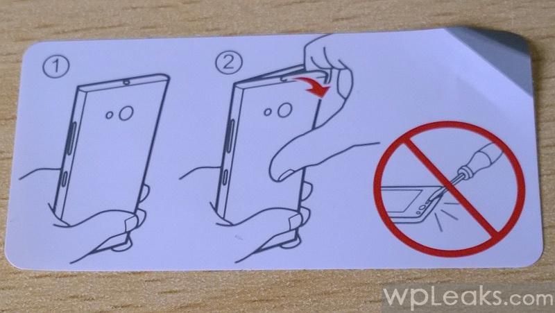 Nokia Lumia 735 снятие крышки