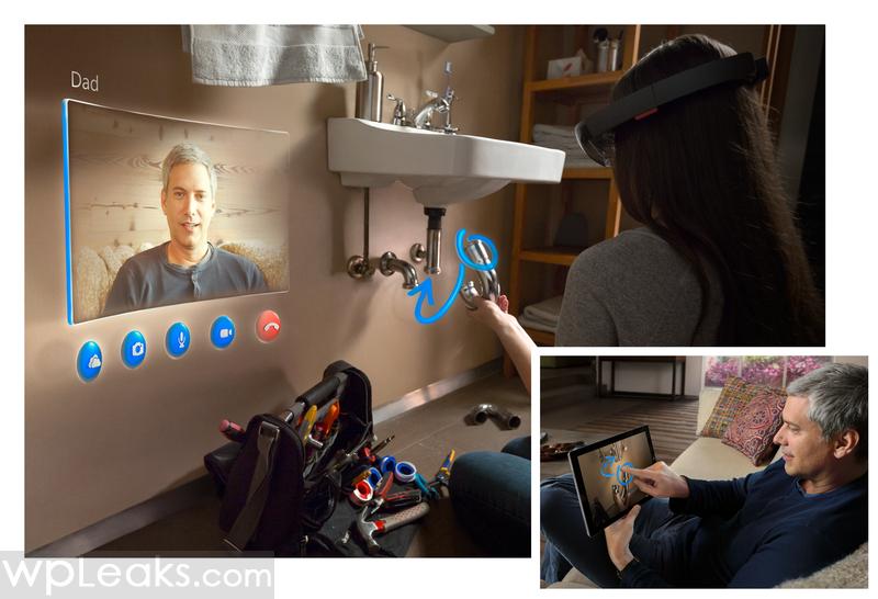 Microsoft HoloLens Skype RGB