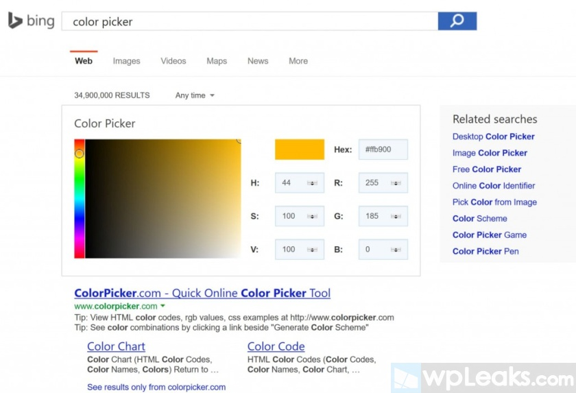 Bing-Color-Picker