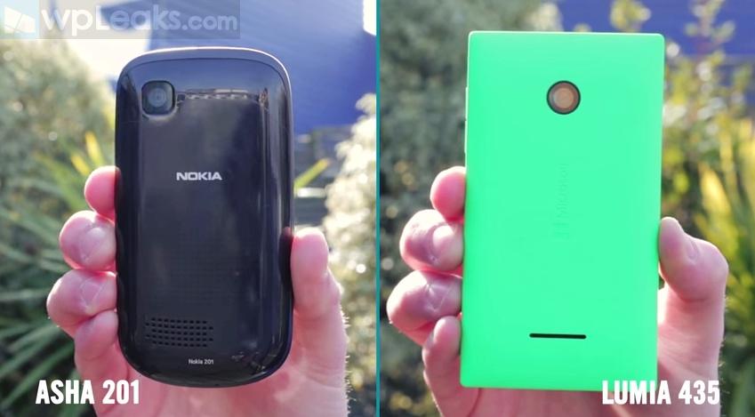 Microsoft Lumia 435 vs Nokia Asha 201