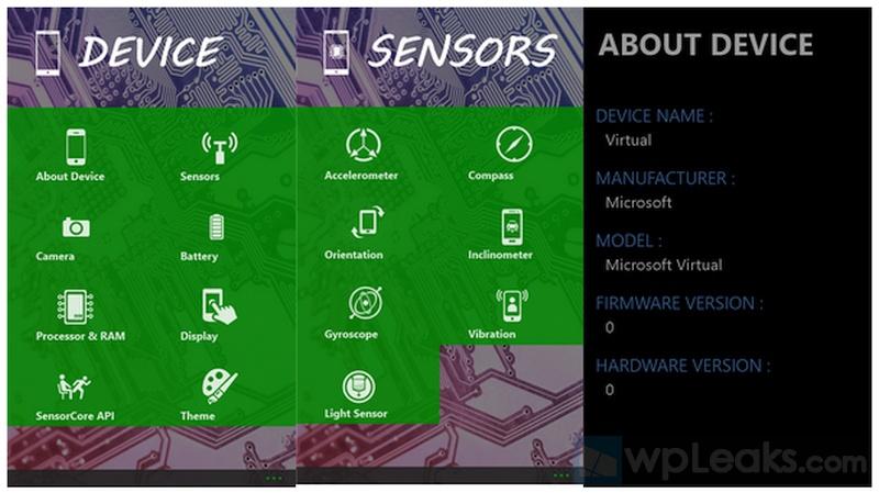 Specs Analysis windows phone