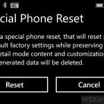 hard reset your Windows Phone