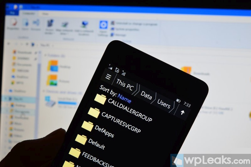 Windows 10 Mobile file system