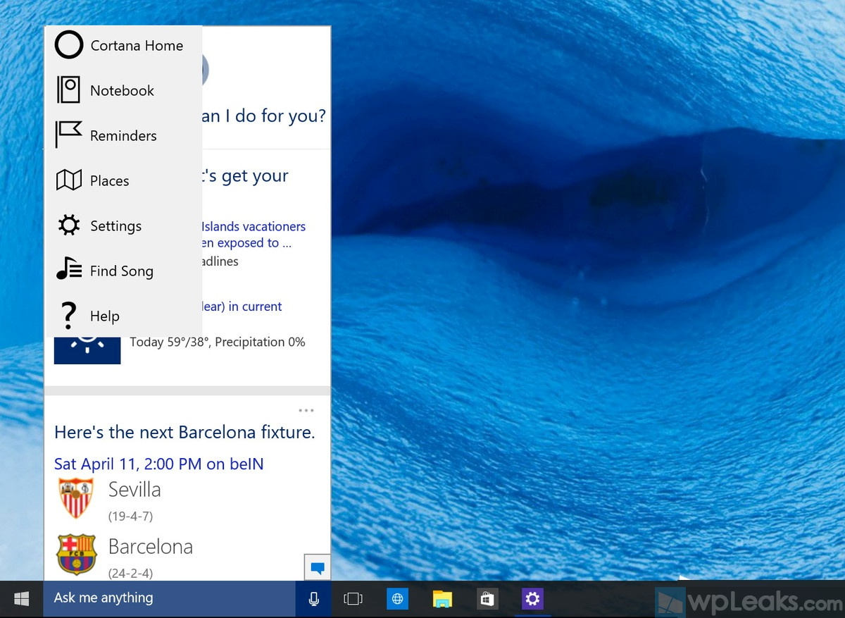 cortana-new-options