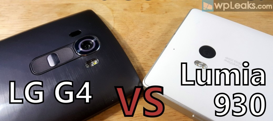 LG G4 vs Lumia 930 camera