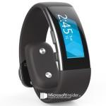 «Слиты» изображения Microsoft Band 2: изогнутая ко...