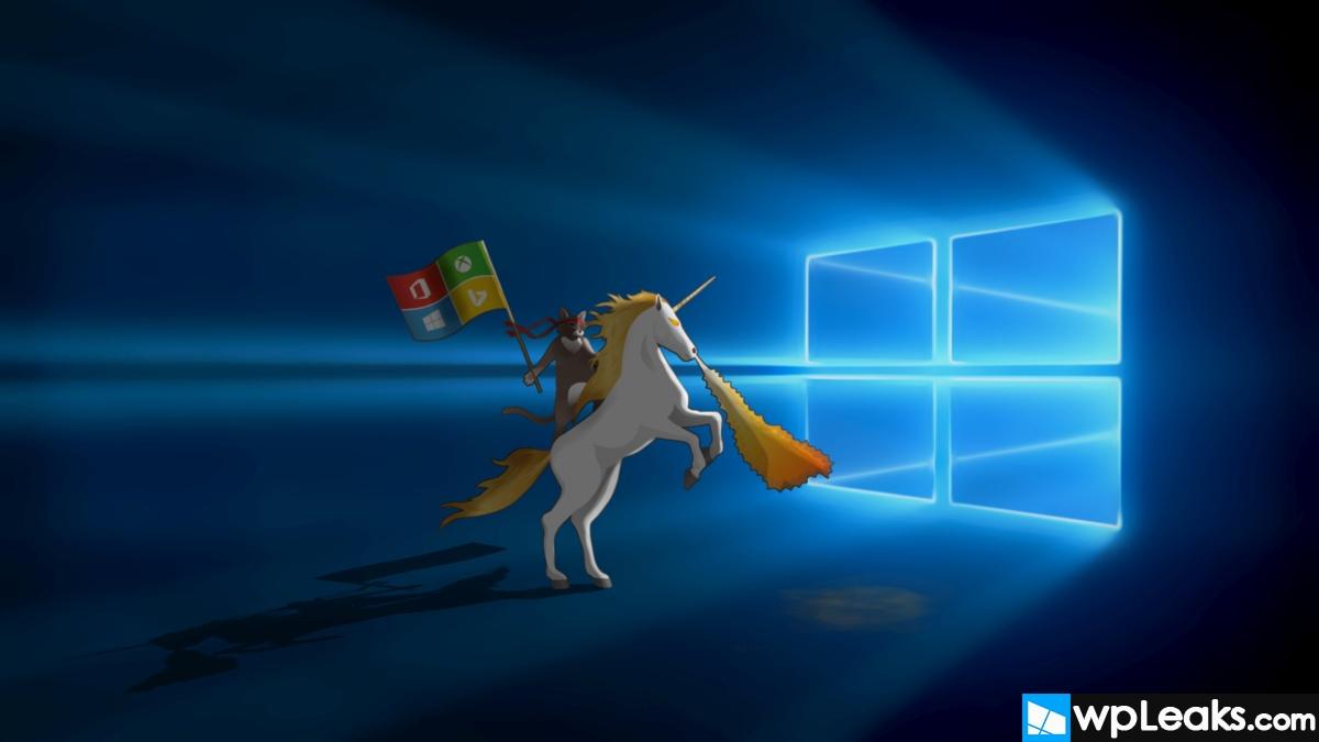 Windows 10 backgroundUnicorn