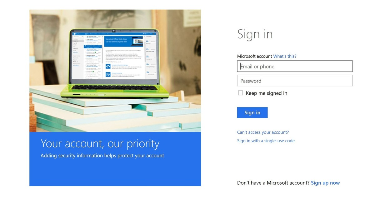 microsoft-account-login-page