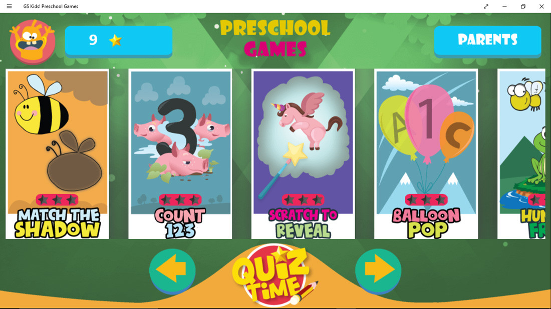 GS_Kids_Preschool_Games_Menu