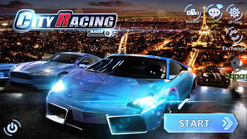 City_Racing_Menu