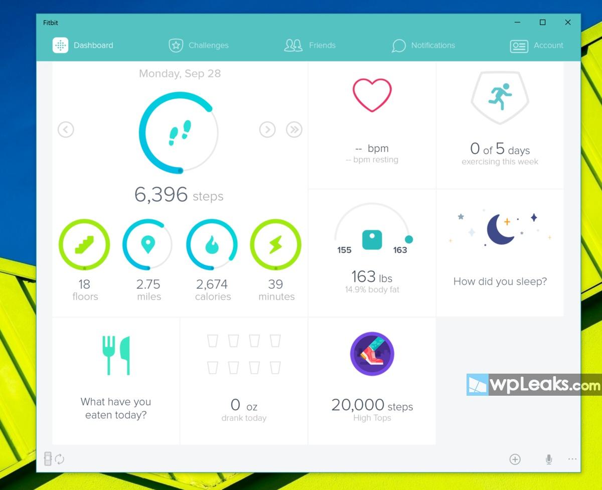 fitbit-windows-10-screenshot