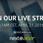 Acer представит свои новинки 21-го апреля на пресс...