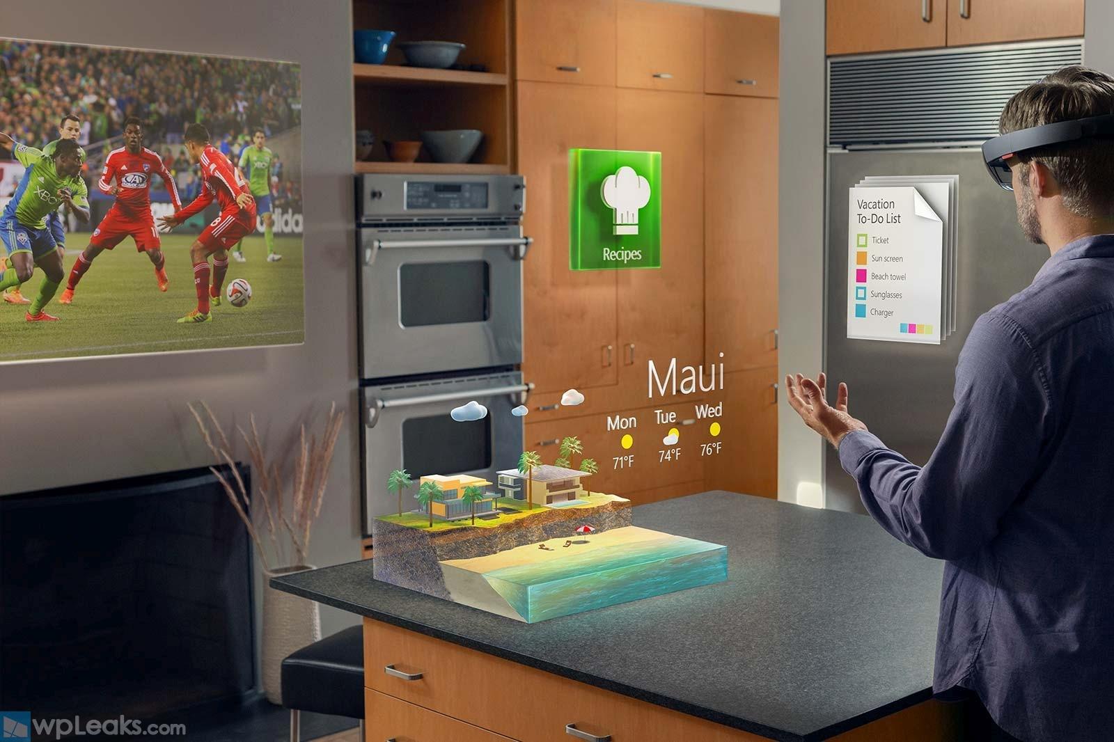 Microsoft-HoloLens Kitchen Wall