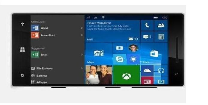 Горизонтальный режим Windows 10 Mobile