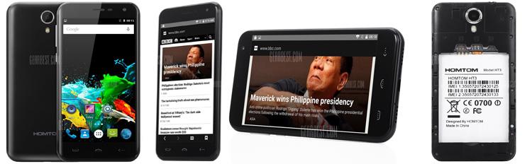 HOMTOM HT3 3G Smartphone_black