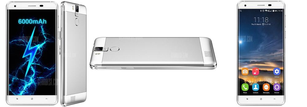 Oukitel K6000 Pro 4G Phablet - WHITE