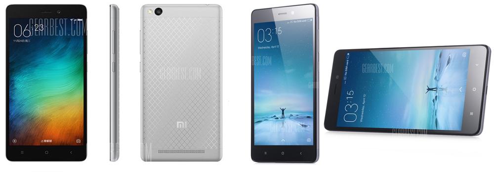 XiaoMi Redmi 3 16GB ROM 4G Smartphone - GRAY