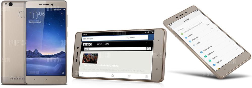 XiaoMi Redmi 3 Pro 32GB ROM 4G Smartphone - GOLDEN