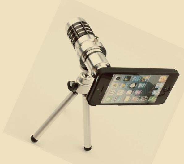 12-ти кратный оптический объектив + Чехол для iPhone 5 + штатив