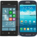 HTC 8X против Samsung Galaxy S3 экран