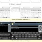 HTC 8X против Samsung Galaxy S3 клавиатура