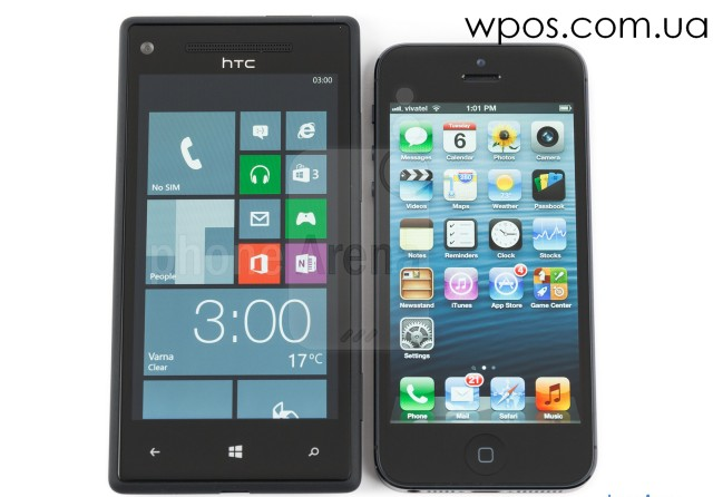 HTC-Windows-Phone-8X-vs-Apple-iPhone-5 экран