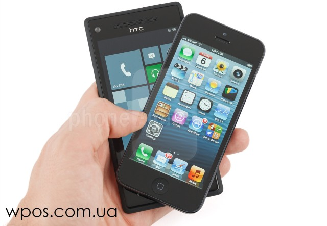 HTC-Windows-Phone-8X-vs-Apple-iPhone-5