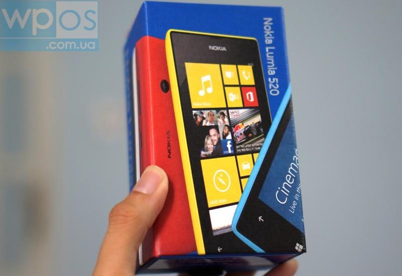 Nokia Lumia 520 распаковка