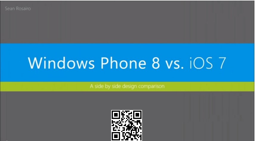 iOS 7 vs Windows Phone 8 видео