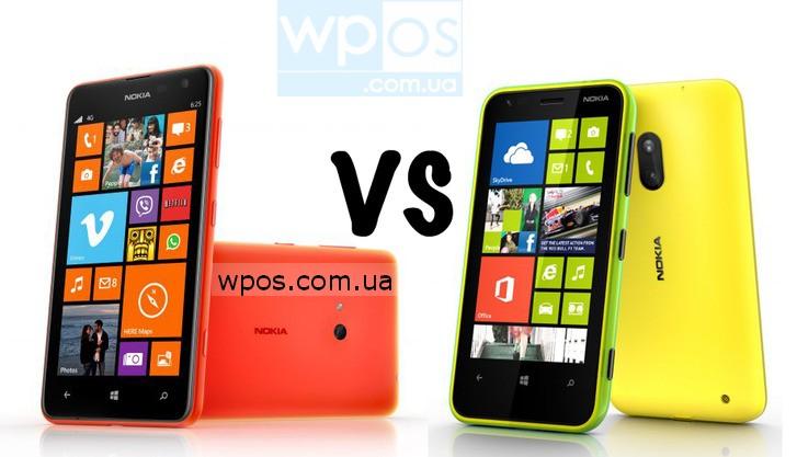 Nokia Lumia 625 против Nokia Lumia 620