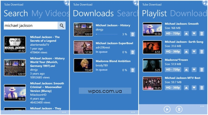 tube download wp8
