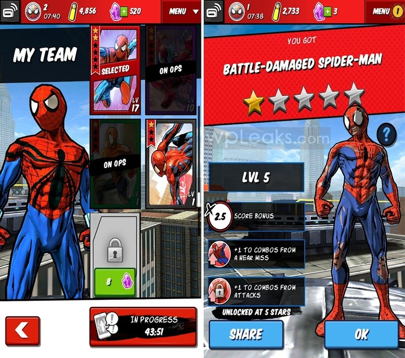 Spider-Man_Unlimited_Gameloft_character_slots