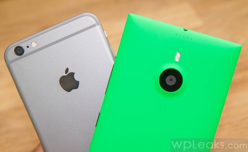 lumia 1520 против iphone 6